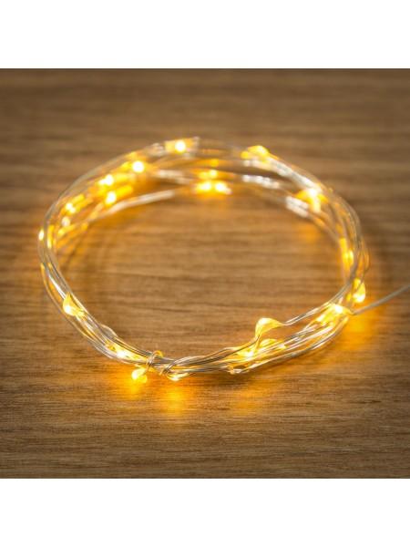 Гирлянда Нить 2м 20 led Роса цвет желтый IP20 303-001 Neon-Night /100шт/