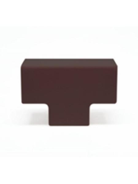 Кабель-канал аксесс. угол T-образный (орех темный) 12х12 (уп.4шт) 50.17.004.011 Tplast