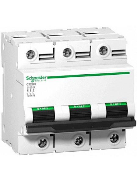 Автоматический выключатель модульный Schneider Electric С120N 3п 63А C 10кA AC (перемен.) (A9N18364)