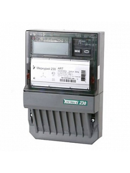 Счетчик электроэнергии трехфазный многотарифный (1 тариф)Меркурий-230ART-02 PQRSIN 10-100А 380В RS485 Инкотекс