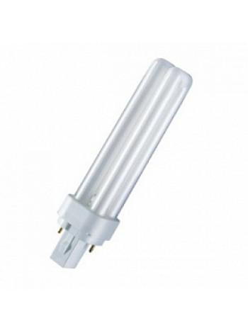 Лампа КЛЛ энергосберегающая 18Вт G24D-2 Dulux D 18W/840 4000К холодный свет 153х34 4050300012056 OSRAM