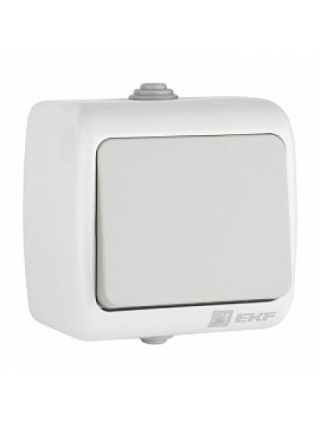 Выключатель 1 -клавишный 10А IP54 серый EFV10-021-30-54 Мурманск EKF