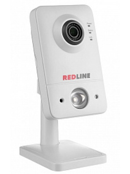 Видеокамера внутренняя IP кубик 1,3Мп 3,6мм POE Звук RedLine RL-IP41P-S