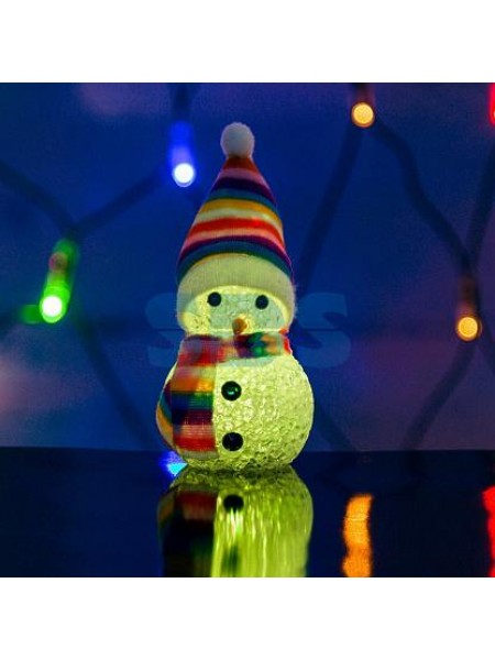 Фигура светодиодная Снеговик 10см, RGB 513-019 Neon-Night