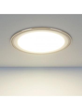Встраиваемый потолочный светодиодный светильник Downlight DLR006 12W 4200K PS/N перламутровый серебро/никель Elektrostandard