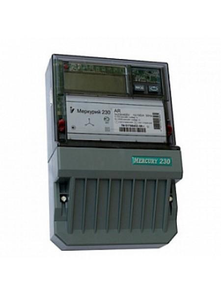 Счетчик электроэнергии трехфазный однотарифный активно/реактивный Меркурий-230AR-03 CL 5-7,5А PLC Инкотекс
