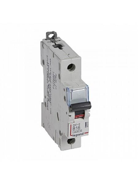 Автоматический выключатель модульный Legrand DX3-E 1п 16А B 6кA (407207)