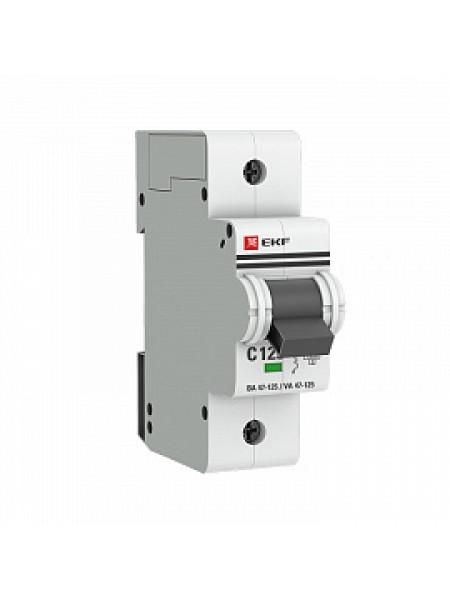 Автоматический выключатель модульный EKF ВА47-125 1п 80А C 10кA AC (перемен.) (mcb47125-1-80C)