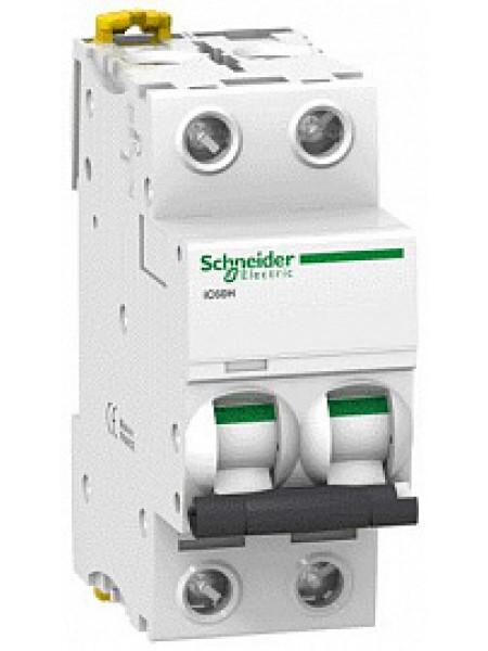 Автоматический выключатель модульный Schneider Electric iC60H 2п 0,5А D 10кA (A9F85270)