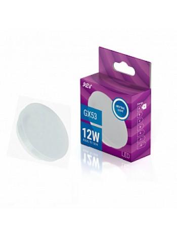 Лампа светодиодная 12Вт GX53 Tablet 4000К 960Лм матовая 230В таблетка 32544 4 REV