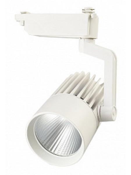 Прожектор светодиодный трековый PTR 0130 30Вт 3600Лм 4000K 24° WH (белый) IP40 .5010529 Jazzway