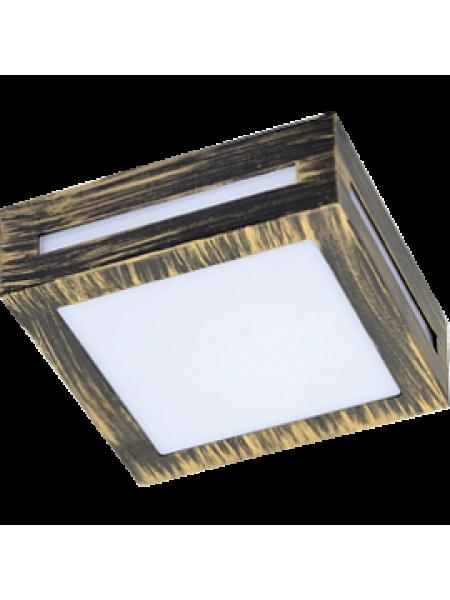 DL Светильник накладной LED 3082W матовый Квадрат метал 1хGX53 Черненая бронза /FN53SSECH/ ECOLA