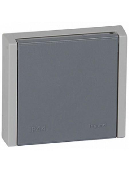 Plexo 55 серая Розетка скрытой установки с винтовой зажимами 20А-400В 3К+Н+З IP44 055708 (Legrand)
