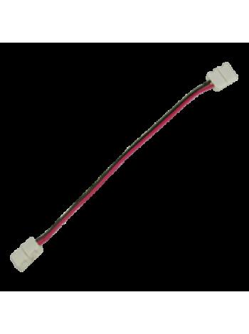 Ecola LED strip connector соед.кабель с двумя 2-контактный зажимными разъемами 8мм 15см SC28C2ESB /уп3шт/