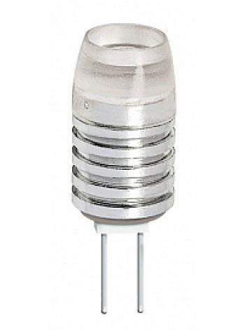 Лампа светодиодная 1,5Вт G4 JC 3000К 90Лм прозрачная 12В капсульная ECO .1021168 JazzWay