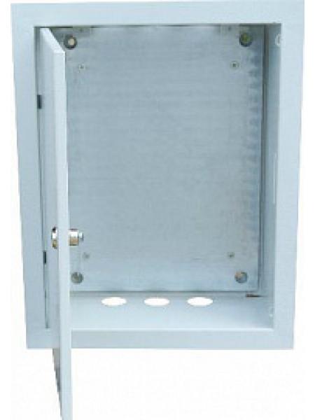 Щит ЩРВ-24-зп (RP 24 ZP/ЩПВз341) с замком, пустой с монтажной панелью 405х320х120 (ВхШхГ) ( ЩПВ-з 341) Элма