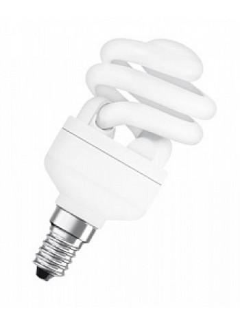 Лампа КЛЛ энергосберегающая 12Вт Е14 DSST MCTW 12W/827 2700К спираль, теплый свет 97х48 4052899917712 OSRAM