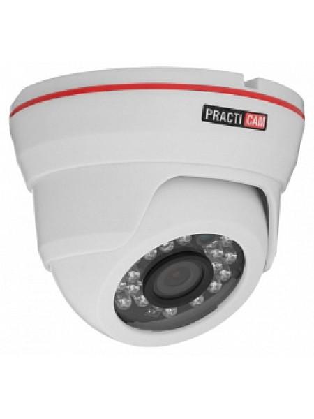 Видеокамера внутренняя MHD купольная 1Мп 2,8мм PRACTICAM PT-MHD720P-С-IR