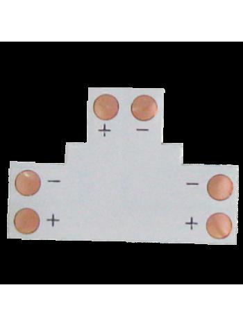 Ecola LED strip connector гибкая соединительная плата Т для зажимного разъема 2-контактный 8мм SC28FTESB /уп5шт/