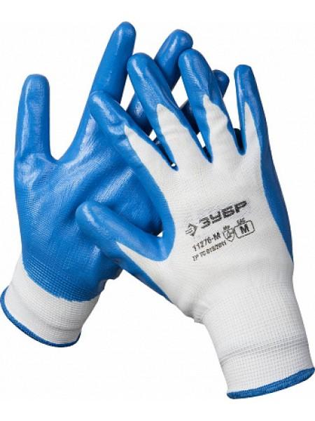 Перчатки маслостойкие для точных работ, с нитриловым покрытием, размер M (8) ЗУБР МАСТЕР 11276-M