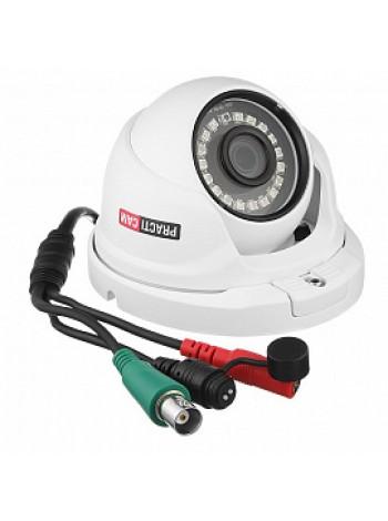Видеокамера уличная MHD купольная 5Мп 3,6мм Вандалозащищенная PRACTICAM PT-MHD5M-MC