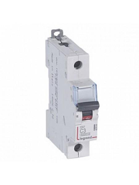 Автоматический выключатель модульный Legrand DX3 1п 3А C 10кA (407664)