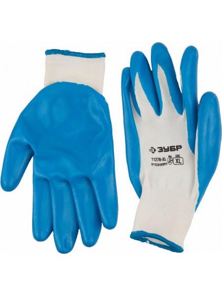 Перчатки маслостойкие для точных работ, с нитриловым покрытием, размер XL (10) ЗУБР МАСТЕР 11276-XL