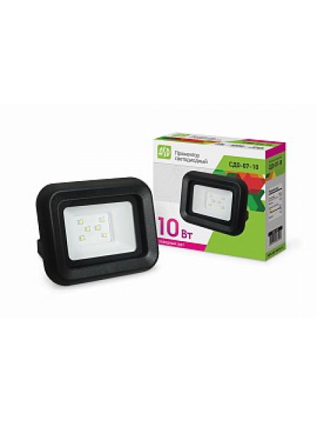 Прожектор светодиодный 10Вт СДО-07-10 черный IP65 4690612018591 ASD