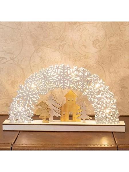 Фигура светодиодная деревянная Рождественская сказка 445*60*240 мм 504-021 Neon-night
