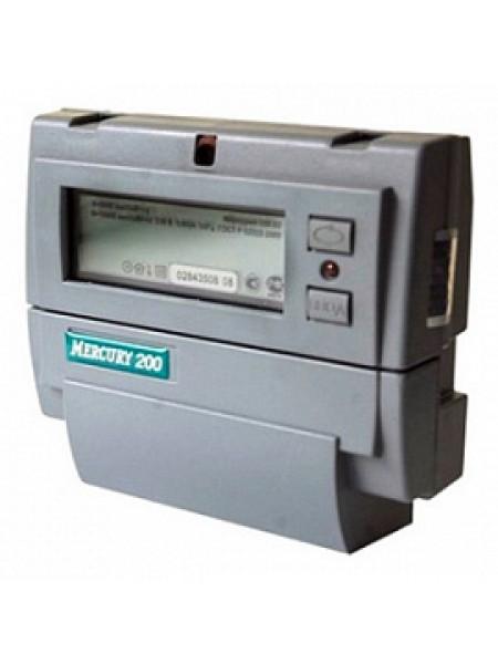 Счетчик электроэнергии однофазный многотарифный (2 тарифа) Меркурий-200.04 5-60А 220В CAN PLC DIN ЖКИ Инкотекс