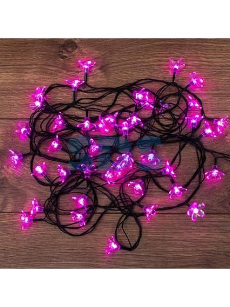 Гирлянда светодиодная Нить 7 м 50 Led Цветы Сакуры цвет розовый с контроллером IP20 303-038 Neon-Night
