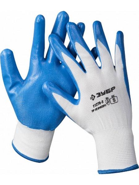 Перчатки маслостойкие для точных работ, с нитриловым покрытием, размер S (7) ЗУБР МАСТЕР 11276-S
