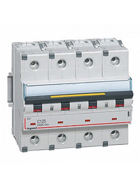 Автоматический выключатель модульный Legrand DX3 4п 125А C 10кA (409364)