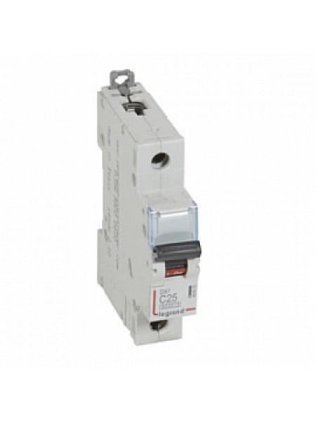 Автоматический выключатель модульный Legrand DX3 1п 25А C 10кA (407672)