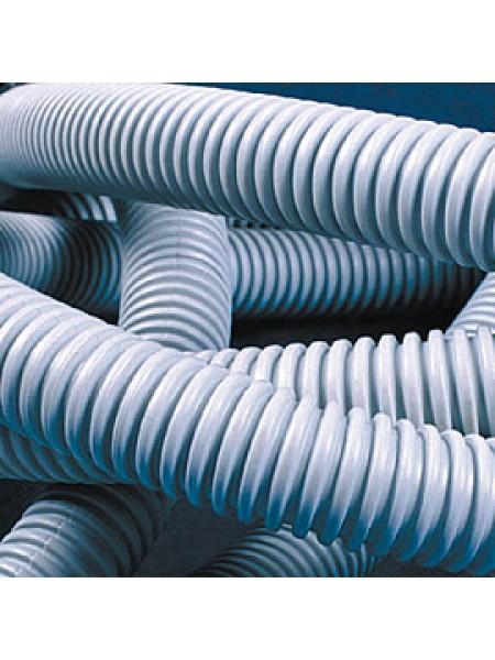 Труба ПВХ гибкая гофрированная диаметр 40мм, тяжелая с протяжкой, 20м, цвет серый код 91540 DKC