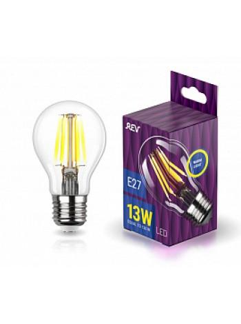 Лампа светодиодная 13Вт E27 A60 2700К 1235Лм прозрачная 230В грушевидная Filament DECO Premium 32479 9 REV