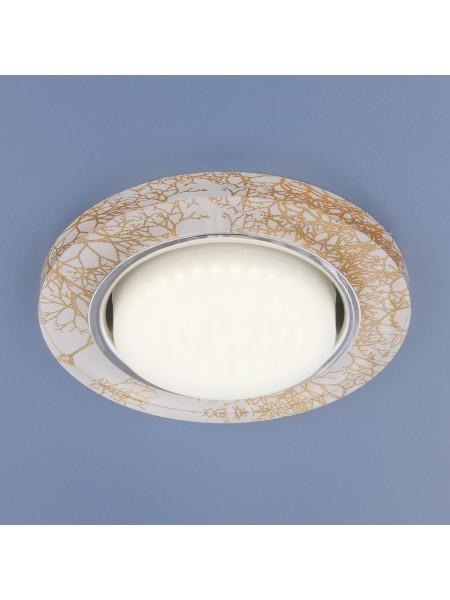 Встраиваемый точечный светильник 1062 GX53 WH/GD белый/золото Elektrostandard