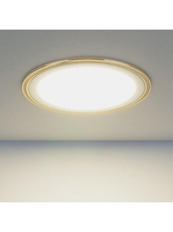 Встраиваемый потолочный светодиодный светильник Downlight DLR006 12W 4200K PS/G перламутровый серебро/золото Elektrostandard