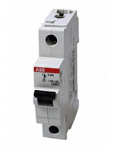 Автоматический выключатель модульный ABB S201 1п 2А D 6кA AC/DC (перемен./постоян.) (2CDS251001R0021)