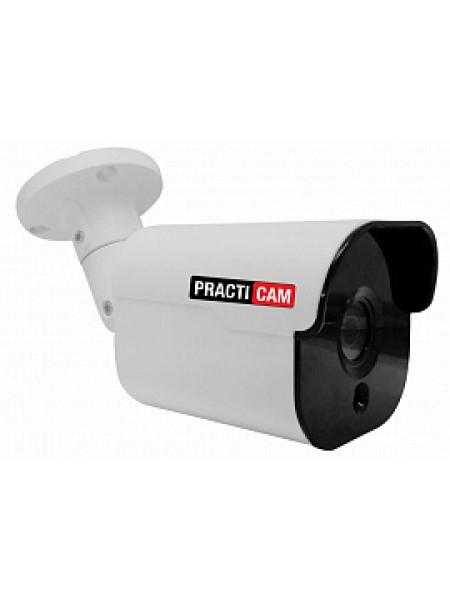Видеокамера уличная MHD цилиндрическая 5Мп 3,6мм PRACTICAM PT-MHD5M-MB