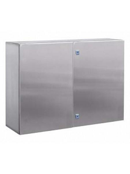DKC R5CEF10131 Навесной шкаф CE из нержавеющей стали (AISI 304), двухдверный, 1000x1000x300мм, с фланцем