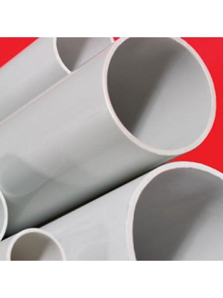 Труба ПВХ жесткая гладкая диаметр 50мм, легкая, L=2м, цвет серый код 62950 DKC