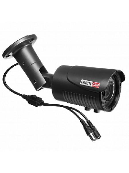 Видеокамера уличная MHD цилиндрическая 5Мп Варифокал 2,8-12мм PRACTICAM PT-MHD5M-MB-V