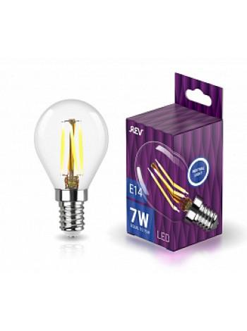 Лампа светодиодная 7Вт E14 G45 4000К 730Лм прозрачная 230В шар Filament DECO Premium 32483 6 REV