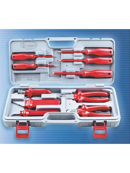 Набор диэлектрических инструментов №3 в кейсе 10 предметов 1000В НИЗ 50114313