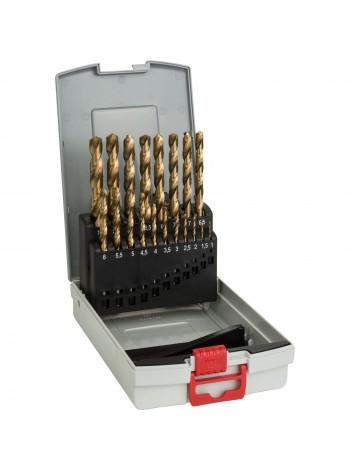 Набор сверл (19 шт; 1-10 мм; HSS-TiN) по металлу Bosch 2608587015