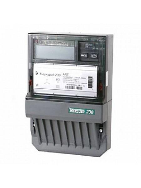Счетчик электроэнергии трехфазный многотарифный (2 тарифа)Меркурий-230ART-03 RN 5-7,5А 380В RS485 Инкотекс