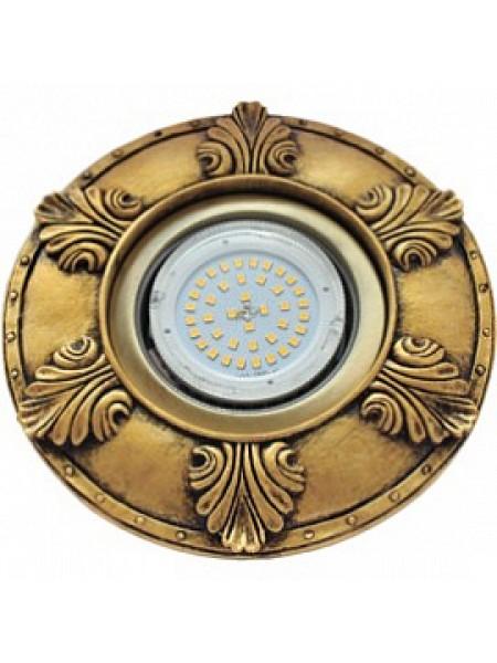Накладка широкая гипсовая листья для встраиваемого светильника GX53 H4 черненая бронза 19х195 /FN53Z1EFT/ Ecola