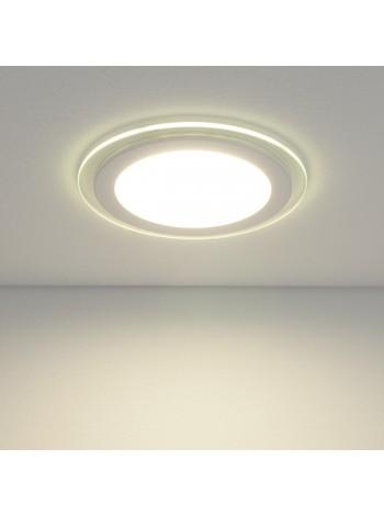Встраиваемый потолочный светодиодный светильник Downlight DLKR160 12W 4200K белый Elektrostandard