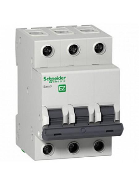 Автоматический выключатель модульный Schneider Electric EASY9 3п 16А B 4,5кA AC (перемен.) (EZ9F14316)